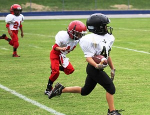 Ryan Thompson had a big day for the Tigers at the Boys to Men Jamboree.  Thompson recovered a fumble and scored a touchdown for DC.