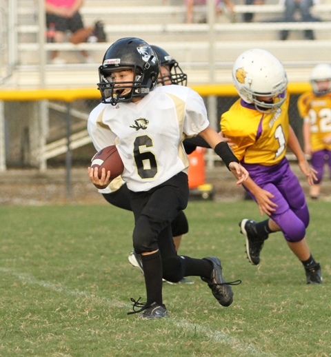 Levi Driver ran well in the B Team scrimmage against Fentress County Saturday.