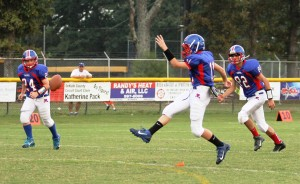 Tyler Cantrell with kickoff duties.