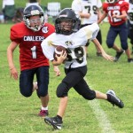 Mason Winter picked off a Cavalier pass in Saturday's game at Cookeville.