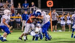 The Saints', Dylan Cripps in the Gordonsville game last Thursday night.