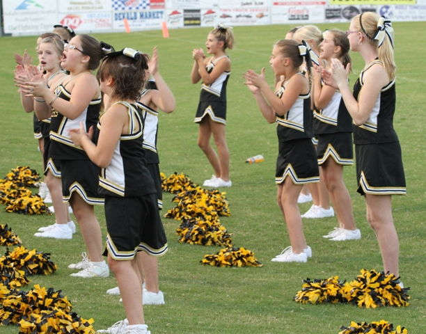 The Senior Tiger Cheerleaders had lots to cheer for in DeKalb's victory over Fentress County Saturday.