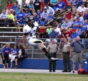Tigers' kicker Matthew Poss was very effective punting the ball for DeKalb County in McMinnville Friday night.