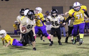 Skylar Sparks scored the Tigers' only touchdown in Saturday's game in Jamestown.