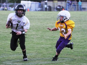 Issac Knowles rushed 13 times for 73 yards in the Tigers' loss against Fentress County Saturday.