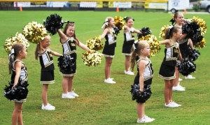 The Peewee Cheerleaders kept the fans fired up all game long Sunday.
