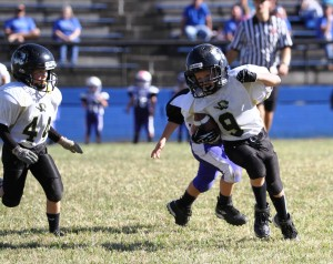 Conner Close had a big day for the Tigers Sunday.  He rushed for 60 yards and a touchdown in the Tigers' game at Livingston.