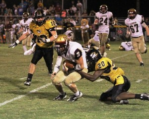The DeKalb defense shut out the Lions Friday night.  The DC defense held Cannon County to less than 100 total yards in the game.