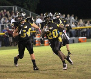 Devonte Milan had a huge game for the Tigers Friday night.  Milan rushed 22 times for 152 yards in the contest.