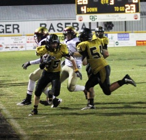 Dustin Warner was big boost for the Tigers with his kick returns against Cannon County Friday night.
