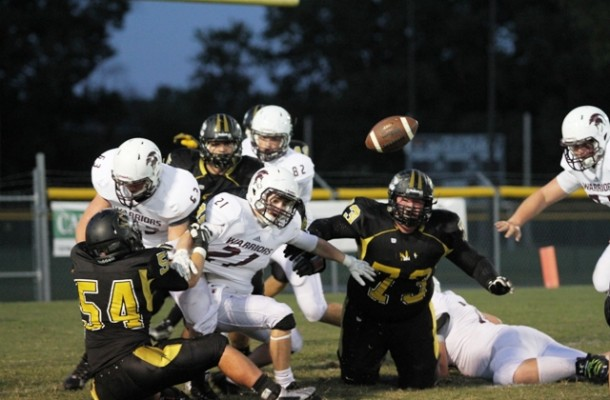Fumbles were a big part of the game Friday night.  There were a total of 5 fumbles lost in the Tigers' contest vs. White County.