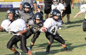 Tiger, Ryan Thompson had a big day for DeKalb Saturday, gaining 33 yards and rushing for a touchdown in the contest.