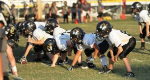 The Junior Tiger offense in its game vs. Smith County.