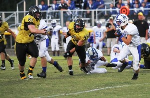Hunter Stone and Lance Ball helped power the Tiger defense in DeKalb's win over Livingston Academy Friday night.