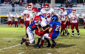 Paxton Butler and the Saints defense gave up only 125 yards in Middle's game vs. Westmoreland Thursday evening.
