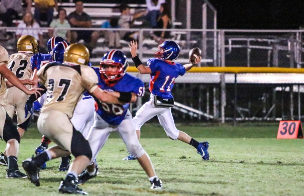 Tyler Cantrell hurls it down field