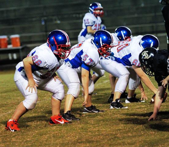 Part of DeKalb's defensive line.