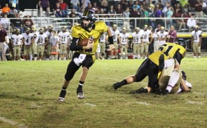 Steven Jennings was much improved Friday night.  He threw for 110 yards and 2 touchdowns in DC's game vs. Cannon County.