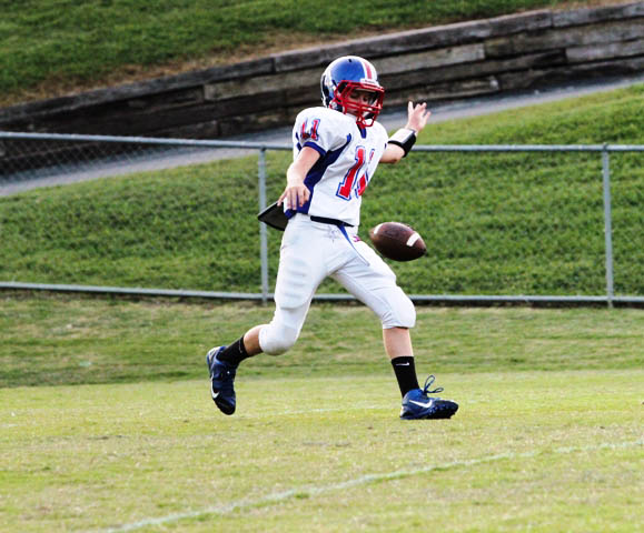 Tyler Cantrell with punting duties Thursday night.