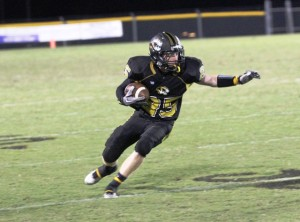 Tiger receiver, Dustin Warner came up big for the Tigers Friday night.  He caught 6 passes for 172 yards in the contest.