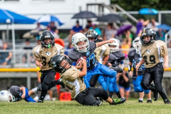 Aiden Bean drags down a Gordonsville defender in DC's game Saturday.