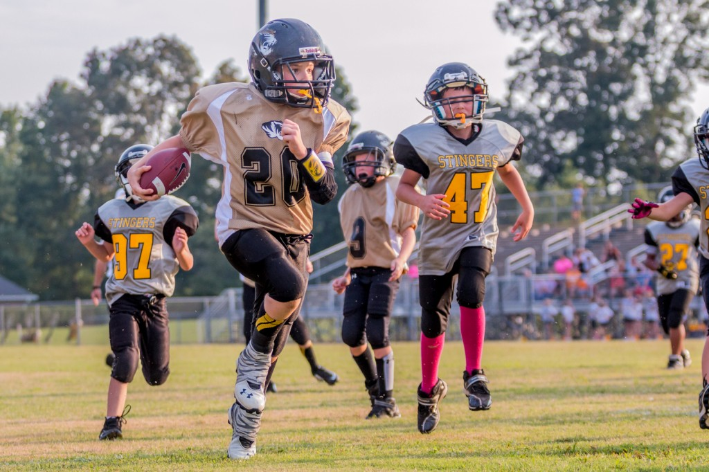 Silas Cross running for the endzone