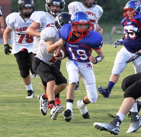 Colter Norris led the Saints to a 38-0 win over Southside Tuesday night.