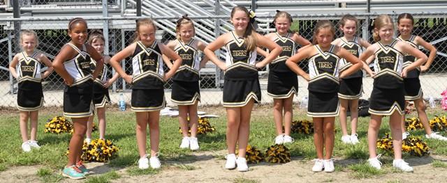 The 2014 Junior Tigers Cheerleaders are:  Kendall Davis, Abby Cross, LeAnn Taylor, Ella Pack, Megyn Patterson, Katie Patterson, Allison Fuller, Jade Mabe, Katherine Gassaway, Laura Good, Layla Walker, Aviannca Chalfant, Sarah Fuson