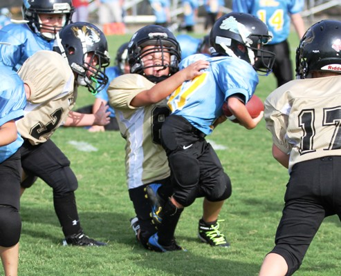 Aiden Bean came up big defensively for the Tigers Saturday.