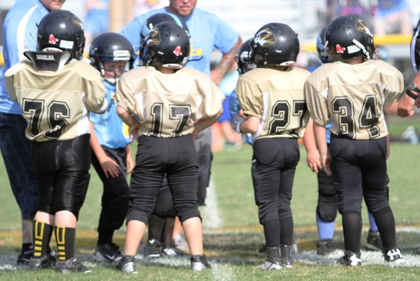 Luke Midgett, Weston Wright, Andrew Dakas and Wesley Kent served as Captains for the Peewee Team Saturday.