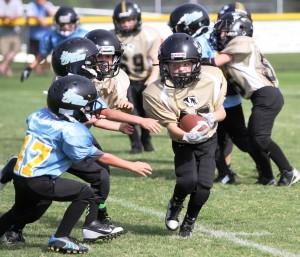 Drew Dakas got a touchdown in the Peewee Team's win over Crossville Saturday.