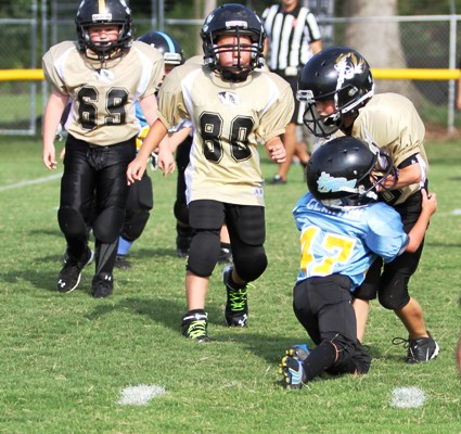Seth Fuson carrying the ball in the Tigers' win over Crossville Saturday.