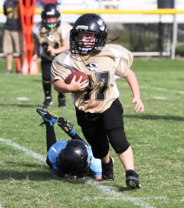 Weston Wright had a monster day for the Tigers Saturday with 140 yards and a touchdown rushing.