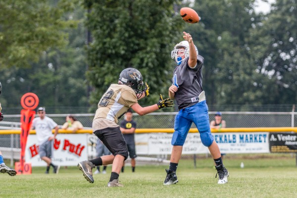 Malachi Hall gets after Gordonsville's quarterback in Saturday's game.
