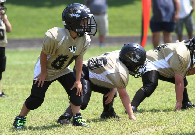 Aydan Bean and Brayden Summers hold down the right side in Saturday's Jamboree at Baxter