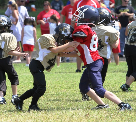 Landon Scruggs does battle with a Cookeville defender