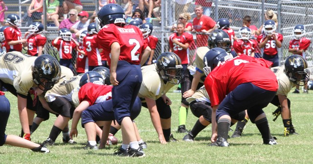 The Tiger offensive line held firm against Cookeville Saturday.