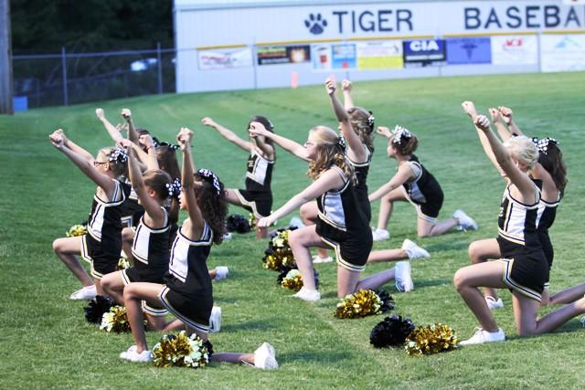 The Senior Tiger Cheerleaders kept spirits high for the Senior Tigers Saturday.