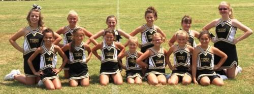 The 2014 Senior Team Cheerleaders are:  Sophia Angeletti, Hope Bain, Kylee Cantrell, Katie Colwell, Chole Hale, Hannah Hall, Joleen Squires, Addison Kyle, Addison Roller, Kaylee Sklenka, Natalie Snipes, Olivia Taylor, Ellie Webb.