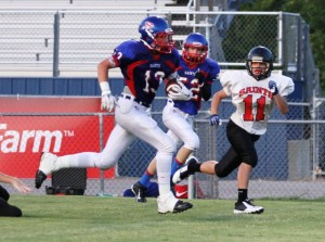Tanner Poss caught a touchdown and scored off of an interception Tuesday night.