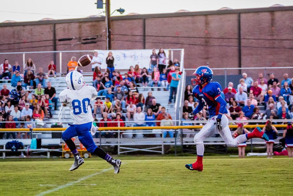 Grayson Redmon chasing a receiver