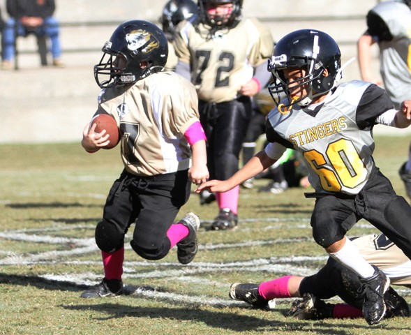 Westin Wright had a touchdown in Saturday's game.