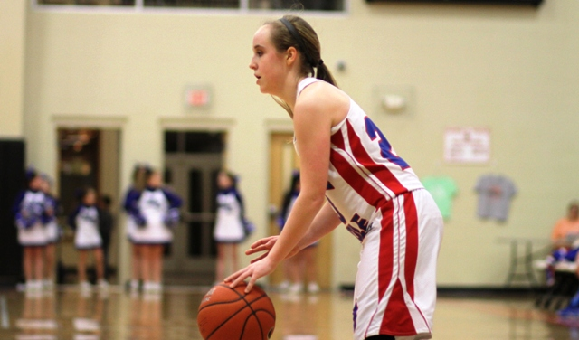 Macy Hedge had 6 points for the Lady Saints Saturday night.