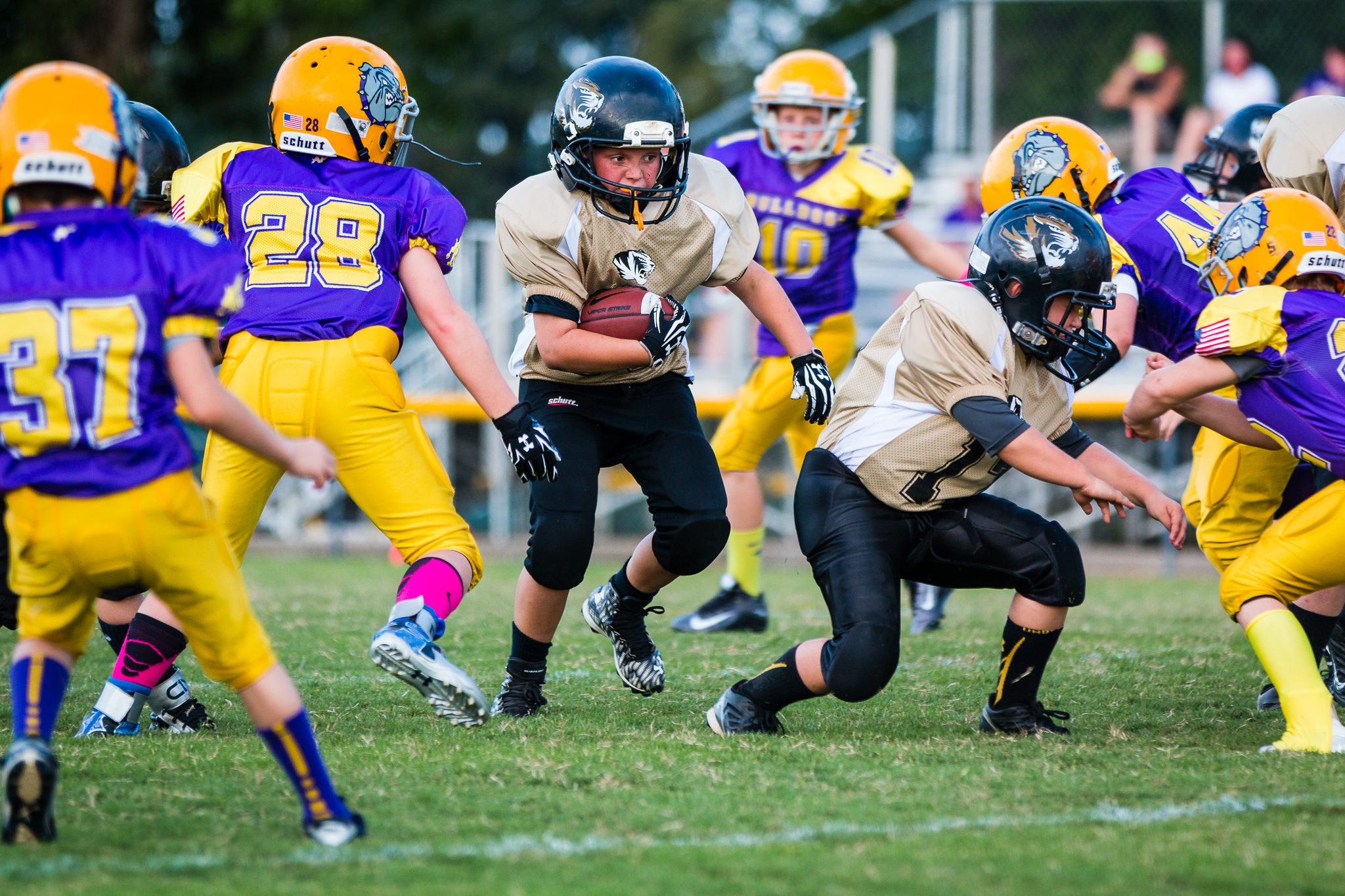 Konner Young had 39 yards and a touchdown for the Tigers Saturday.