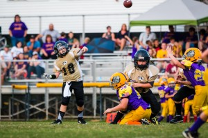 Quarterback Briz Trapp airs one out against Fentress County Saturday.